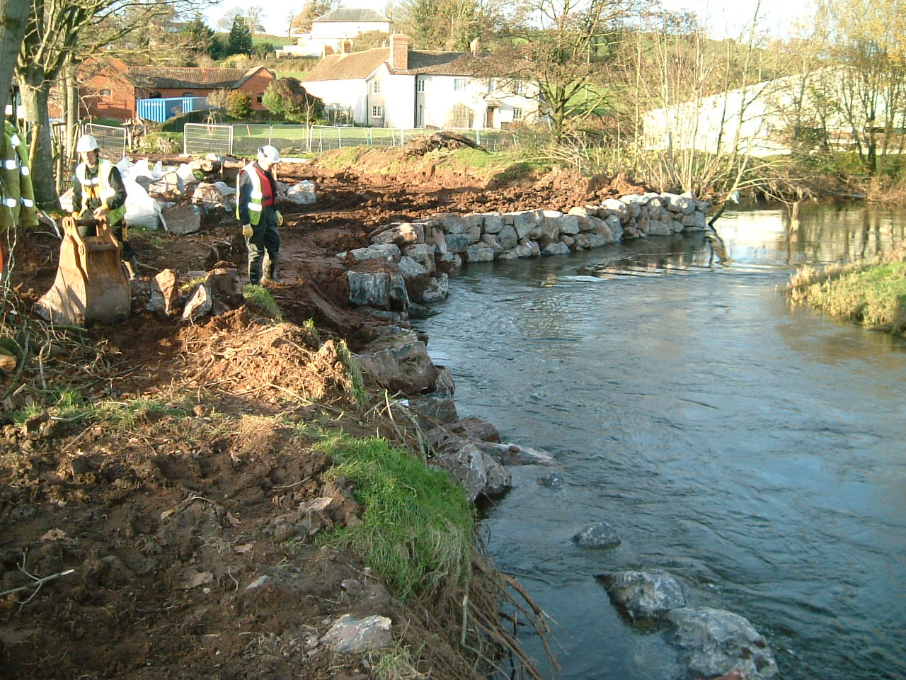 Riverbank works