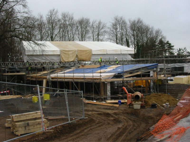 Visitor Centre under construction