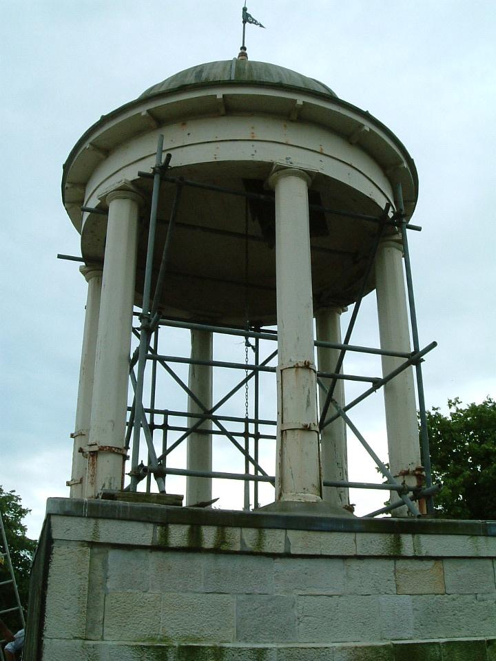 Scaffolding to cupola