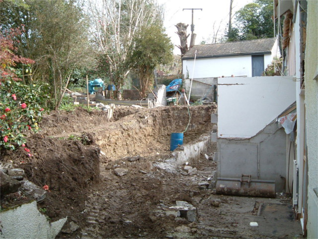Demolition of extension