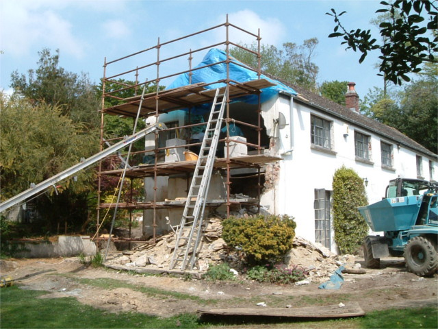 Demolition of gable