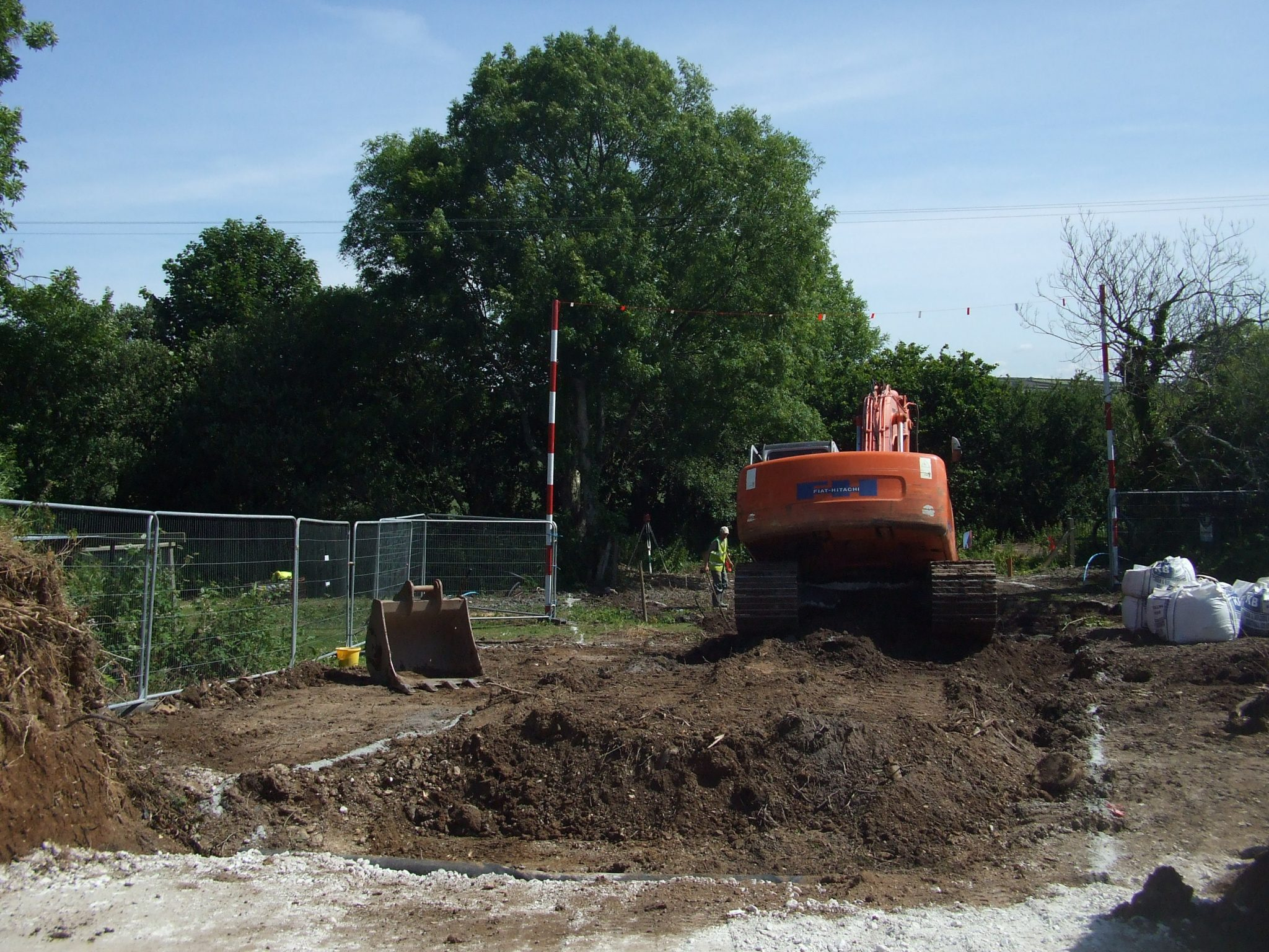 Excavation of site