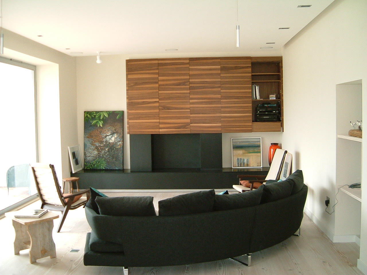 Living area, on completion of the works