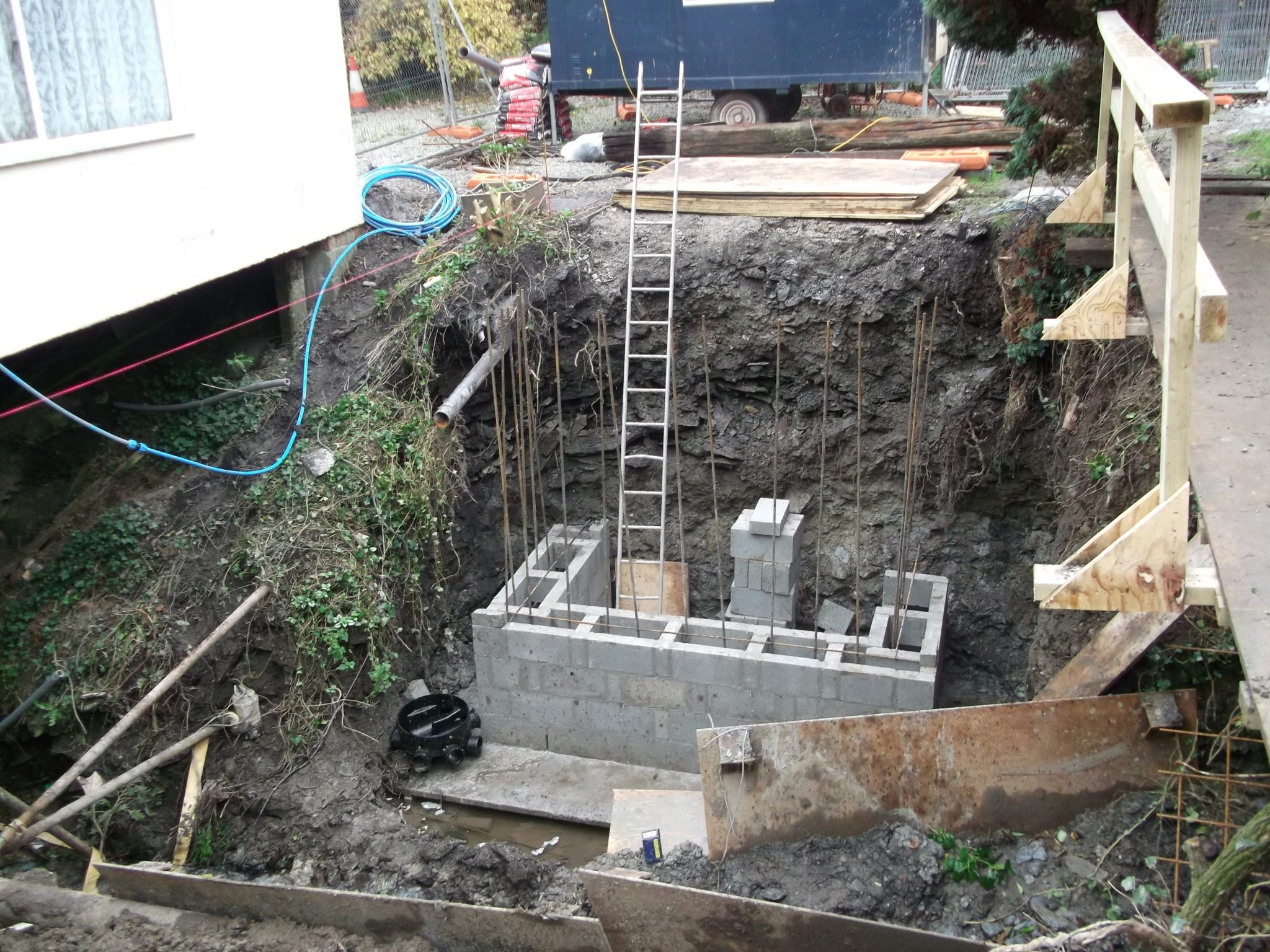 Construction of new abutments