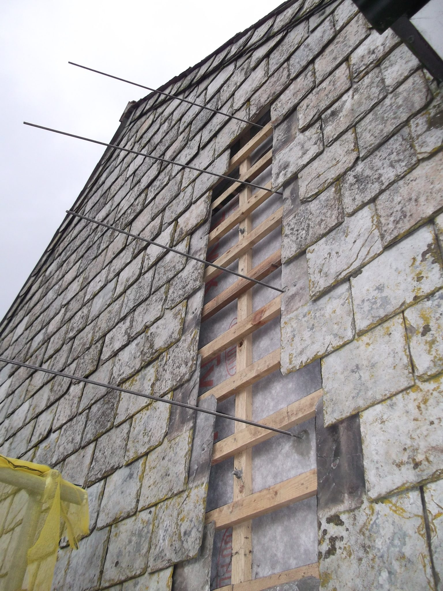 During repairs