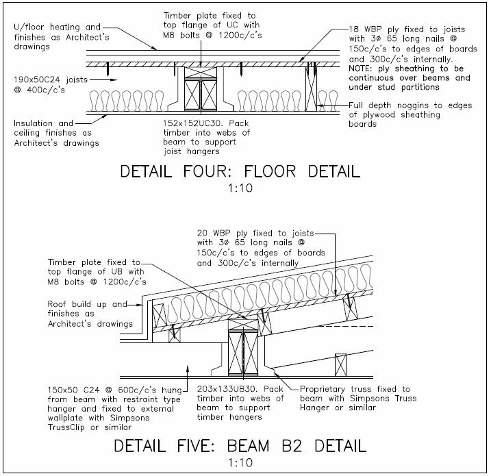 Example of Building Regulations details