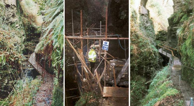 Devil's Hole access construction