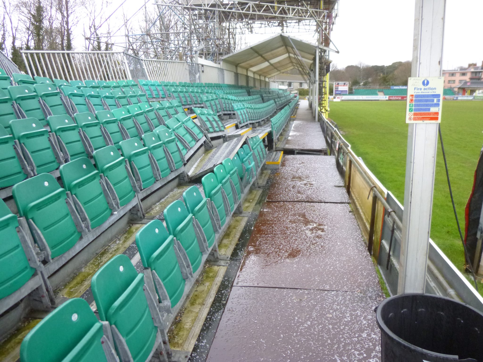 Damage to seating
