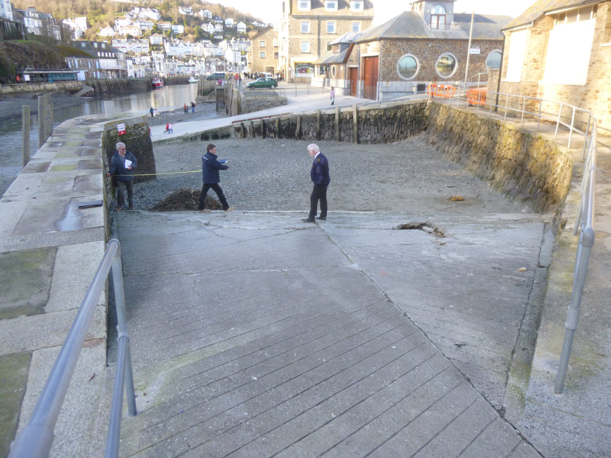 During Construction of a New Slipway