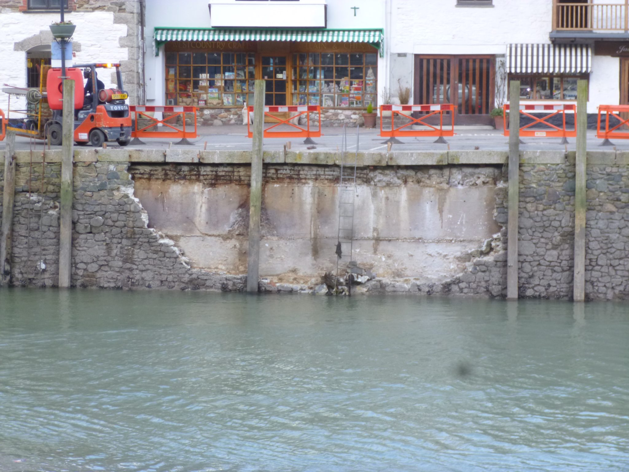 Storm Damaged Harbour Wall