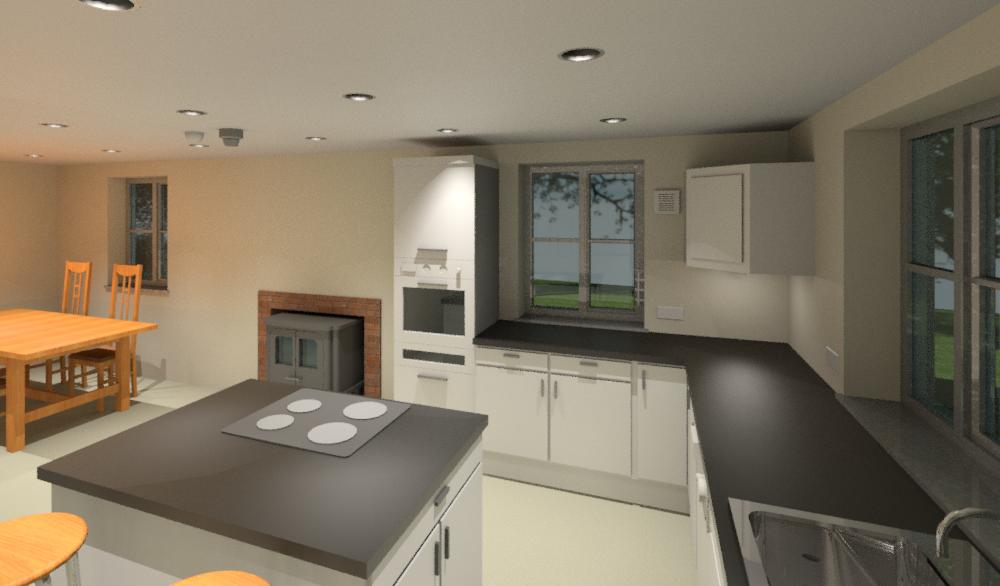 Kitchen Diner 3D model view